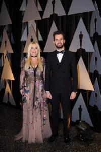 Lady Monika Bacardi e Andrea Iervolino alla serata degli Oscar.