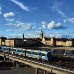 La metropolitana di Stoccolma in un tratto estero del suo percorso.