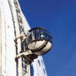 L'esterno del Globe Arena a Joanneshow. Con gli ascensori esterni si può avere una vista panoramica della città.