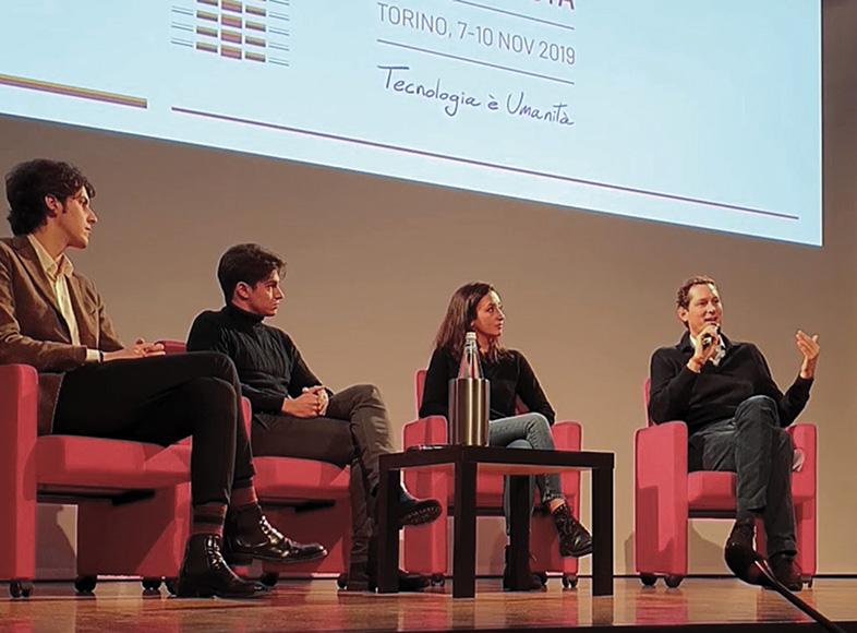 John Elkann al Festival della Tecnologia di Torino.